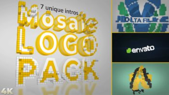 Mosaic Logo Reveal Pack – 7 intros