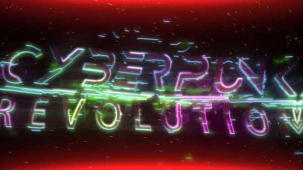 Cyberpunk logo intro - After Effects Template