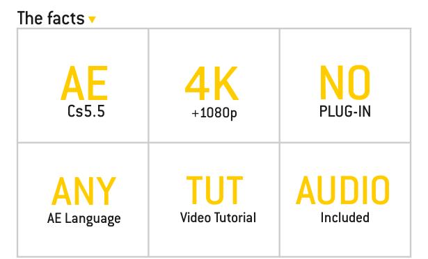 fullhd, 4k, template, audio included, tutorial, no plugin