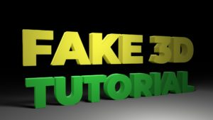 Easy and fast Fake 3D Tutorial